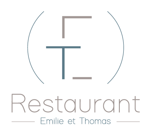 Logo du restaurant gastronomique ET, Émilie et Thomas Roussey