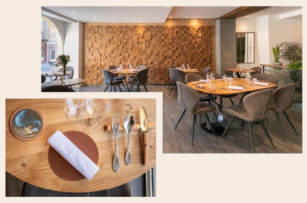 Intérieur du restaurant gastronomique ET à Rodez